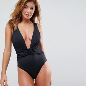 ASOS Black One Piece Bathing Suit